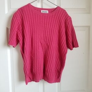 Alfred Dunner hot pink crew neck sweater- XL